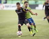 2014 MLS Western Conference Championship: Nov 30, Galaxy vs Sounders - Lamar Neagle, Dan Gargan Photo by Steven Bisig