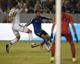 Aug 8, 2014 - MLS: San Jose Earthquakes vs Los Angeles Galaxy - Chris Wondolowski, Omar Gonzalez Photo by Kelvin Kuo