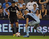 Aug 23, 2014 - MLS: D.C. United vs Sporting KC - Fabian Espindola, Aurelien Collin Photo by Jeff Curry