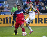 Aug 2, 2014 - MLS: Columbus Crew vs Chicago Fire - Ethan Finlay, Gonzalo Segares Photo by Mike Dinovo