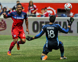 Jun 1, 2014 - MLS: Los Angeles Galaxy vs Chicago Fire - Jaime Penedo, Quincy Amarikwa Photo by Matt Marton