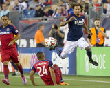 Sep 7, 2014 - MLS: Chicago Fire vs New England Revolution - Jermaine Jones, Quincy Amarikwa Photo by Winslow Townson