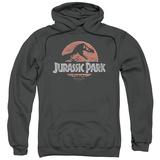 Hoodie: Jurassic Park - Faded Logo Pullover Hoodie