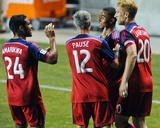 2014 MLS US Open Cup: Jun 18, Pittsburgh Riverhounds vs Chicago Fire - Matt Watson, Quincy Amarikwa Foto af Matt Marton