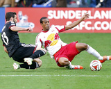 2014 MLS Playoffs: Nov 8, New York Red Bulls vs D.C. United - Chris Pontius, Roy Miller Photo by Geoff Burke