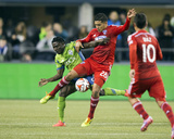 2014 MLS Playoffs: Nov 10, FC Dallas vs Seattle Sounders - Victor Ulloa, Obafemi Martins Photo by Joe Nicholson