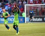 Jun 7, 2014 - MLS: Seattle Sounders vs Chicago Fire - Obafemi Martins Photo by Mike Dinovo