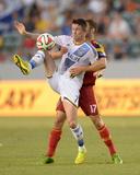Jul 12, 2014 - MLS: Real Salt Lake vs Los Angeles Galaxy - Robbie Keane, Chris Wingert Photo by Kirby Lee