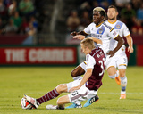 Aug 20, 2014 - MLS: Los Angeles Galaxy vs Colorado Rapids - Jared Watts, Gyasi Zardes Photo by Isaiah J. Downing