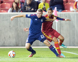 Oct 22, 2014 - MLS: Chivas USA vs Real Salt Lake - Alvaro Saborio, Eriq Zavaleta Photo by Russell Isabella
