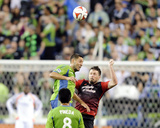 Jul 13, 2014 - MLS: Portland Timbers vs Seattle Sounders - Clint Dempsey, Danny O'Rourke Photo by Steven Bisig