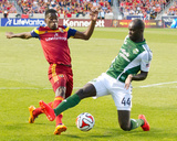 Apr 19, 2014 - MLS: Portland Timbers vs Real Salt Lake - Olmes Garcia, Pa Modou Kah Photo by Russell Isabella