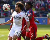 Apr 19, 2014 - MLS: New England Revolution vs Chicago Fire - Lovel Palmer, Kevin Alston Photo by Mike Dinovo