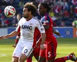 Apr 19, 2014 - MLS: New England Revolution vs Chicago Fire - Lovel Palmer, Kevin Alston Photo by Mike Dinovo