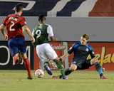 May 28, 2014 - MLS: Portland Timbers vs Chivas USA - Dan Kennedy, Frederic Piquionne, Bobby Burling Photo by Jayne Kamin-Oncea