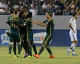 Jul 4, 2014 - MLS: Portland Timbers vs Los Angeles Galaxy - Diego Chara, Fanendo Adi Photo by Jayne Kamin-Oncea