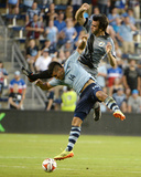 2014 MLS U.S. Open Cup: Jun 18, Minnesota United vs Sporting KC - Dom Dwyer, Cristiano Dias Photo by John Rieger