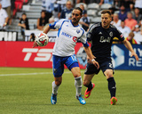 Jun 25, 2014 - MLS: Montreal Impact vs Vancouver Whitecaps - Issey Nakajima-Farran, Jordan Harvey Photo by Anne-Marie Sorvin