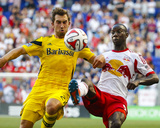 Jul 12, 2014 - MLS: Columbus Crew vs New York Red Bulls - Bradley Wright-Phillips, Chad Barson Photo by Jim O'Connor