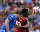 Jul 24, 2014 - MLS: Montreal Impact vs Real Salt Lake - Robbie Findley, Heath Pearce Photo by Chris Nicoll