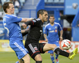 Jun 11, 2014 - MLS: D.C. United vs Montreal Impact - Wandrille Lefevre, Fabian Espindola Photo by Eric Bolte