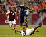 Jun 4, 2014 - MLS: Chicago Fire vs Colorado Rapids - Matt Watson, Thomas Piermayr Foto af Chris Humphreys