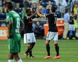 2014 MLS U.S. Open Cup: Jun 24, NY Cosmos vs Philadelphia Union - Sebastien Le Toux, Amobi Okugo Photo by John Geliebter