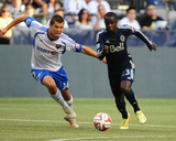 Jun 25, 2014 - MLS: Montreal Impact vs Vancouver Whitecaps - Kekuta Manneh, Karl Ouimette Photo by Anne-Marie Sorvin