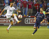 Jul 30, 2014 - MLS: Vancouver Whitecaps vs Chicago Fire - Pedro Morales, Mike Magee Photo by Mike Dinovo
