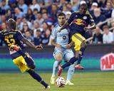May 27, 2014 - MLS: New York Red Bulls vs Sporting KC - Sal Zizzo, Ibrahim Sekagya, Chris Duvall Photo by Gary Rohman