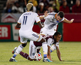 Aug 20, 2014 - MLS: Los Angeles Galaxy vs Colorado Rapids - Gyasi Zardes, Dan Gargan Photo by Isaiah J. Downing