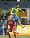 2014 MLS Playoffs: Nov 10, FC Dallas vs Seattle Sounders - Clint Dempsey, Matt Hedges Photo by Joe Nicholson