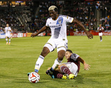 Aug 20, 2014 - MLS: Los Angeles Galaxy vs Colorado Rapids - Gyasi Zardes, Marc Burch Photo by Isaiah J. Downing