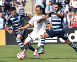 Jul 19, 2014 - MLS: Los Angeles Galaxy vs Sporting KC - Robbie Keane, Graham Zusi, Soony Saad Photo af Peter Aiken