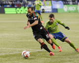2014 MLS Western Conference Championship: Nov 30, Galaxy vs Sounders - Landon Donovan, Zach Scott Photo by Steven Bisig