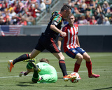 Apr 6, 2014 - MLS: Los Angeles Galaxy vs Chivas USA - Dan Kennedy, Robbie Keane Photo by Kirby Lee