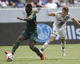 Aug 2, 2014 - MLS: Portland Timbers vs Los Angeles Galaxy - Kalif Alhassan, Robbie Rogers Photo by Kelvin Kuo