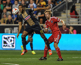 Aug 24, 2014 - MLS: San Jose Earthquakes vs Philadelphia Union - Tommy Thompson, Ethan White Photo by John Geliebter