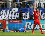 Aug 2, 2014 - MLS: Toronto FC vs Montreal Impact - Gilberto, Matteo Ferrari Photo by Jean-Yves Ahern