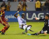 2014 MLS Playoffs: Nov 9, Real Salt Lake vs LA Galaxy - Nick Rimando, Gyasi Zardes, Tony Beltran Photo by Jake Roth