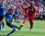 Jun 7, 2014 - MLS: San Jose Earthquakes vs Toronto FC - Jermain Defoe, Clarence Goodson Photo by Nick Turchiaro