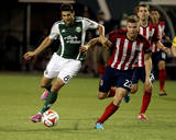 Aug 9, 2014 - MLS: Chivas USA vs Portland Timbers - Diego Valeri, Eriq Zavaleta Photo by Jaime Valdez