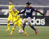 2014 MLS Playoffs: Nov 9, Columbus Crew vs New England Revolution - Lee Nguyen, Eric Gehrig Photo by Stew Milne