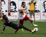Jun 27, 2014 - MLS: Toronto FC vs New York Red Bulls - Eric Alexander, Justin Morrow Photo by Noah K. Murray