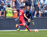 Jul 6, 2014 - MLS: Chicago Fire vs Sporting KC - Eric Kronberg, Mike Magee Photo by Denny Medley