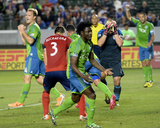 Apr 19, 2014 - MLS: Seattle Sounders vs Chivas USA - Dan Kennedy, Lamar Neagle Photo by Jayne Kamin-Oncea