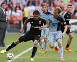 May 31, 2014 - MLS: Sporting KC vs D.C. United - Nick DeLeon, Seth Sinovic Photo by Geoff Burke
