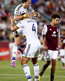 Aug 20, 2014 - MLS: Los Angeles Galaxy vs Colorado Rapids - Alan Gordon, Omar Gonzalez Photo by Isaiah J. Downing