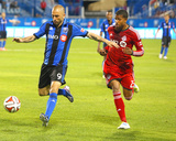 2014 MLS Canadian Championship: Jun 4, Toronto FC vs Montreal Impact - Marco Di Vaio, Jeremy Hall Photo by Jean-Yves Ahern