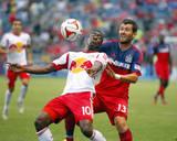 Aug 10, 2014 - MLS: New York Red Bulls vs Chicago Fire - Lloyd Sam, Gonzalo Segares Photo by Dennis Wierzbicki